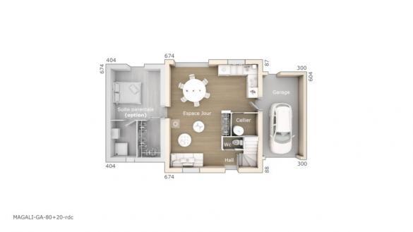 Maison+Terrain à vendre .(80 m²)(MONTEUX) avec (MAISONS DE MANON)