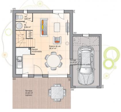 Maison+Terrain à vendre .(78 m²)(PERNES LES FONTAINES) avec (MAISONS DE MANON)