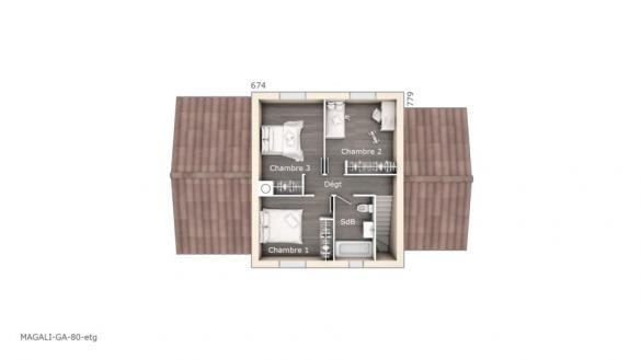 Maison+Terrain à vendre .(80 m²)(LA BRILLANNE) avec (LES MAISONS DE MANON)
