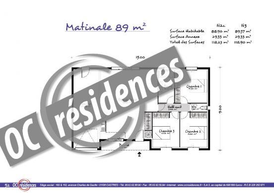 Maison+Terrain à vendre .(90 m²)(PAYRIN AUGMONTEL) avec (OC RESIDENCES - MAZAMET)