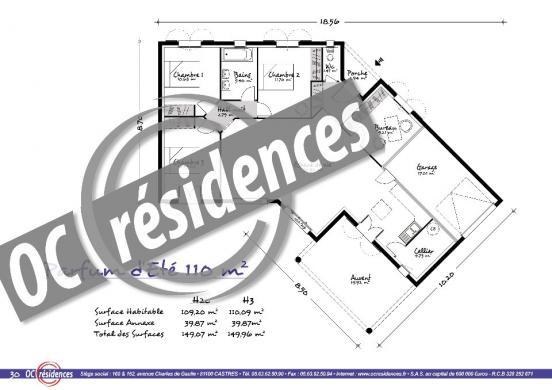 Maison+Terrain à vendre .(110 m²)(PONT DE LARN) avec (OC RESIDENCES - MAZAMET)