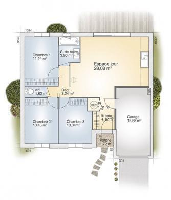Maison+Terrain à vendre .(73 m²)(MONTBLANC) avec (MAISONS BALENCY)