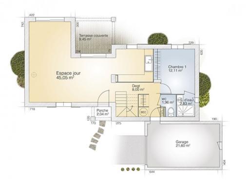 Maison+Terrain à vendre .(105 m²)(MONTBLANC) avec (MAISONS BALENCY)