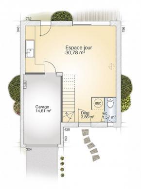 Maison+Terrain à vendre .(83 m²)(PINET) avec (MAISONS BALENCY)