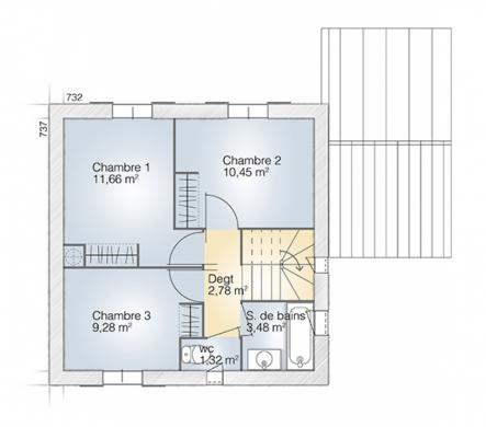 Maison+Terrain à vendre .(81 m²)(MONTAGNAC) avec (MAISONS BALENCY)