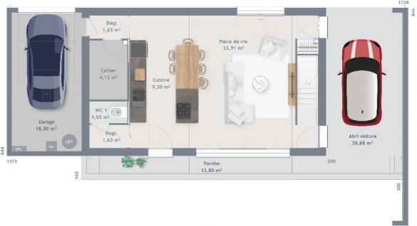 Maison+Terrain à vendre .(120 m²)(SAINT JULIEN LES VILLAS) avec (MAISONS FRANCE CONFORT)