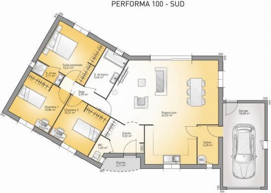 Maison à vendre .(100 m²)(FIGANIERES) avec (MAISONS FRANCE CONFORT)