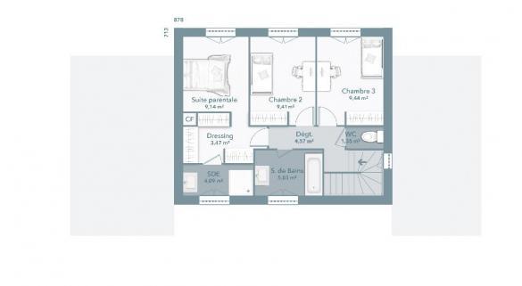Maison+Terrain à vendre .(115 m²)(VIDAUBAN) avec (MAISONS FRANCE CONFORT)
