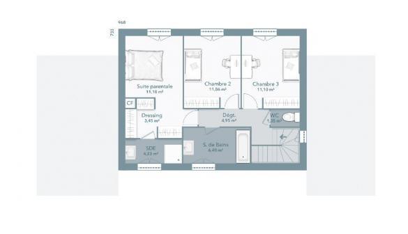 Maison+Terrain à vendre .(130 m²)(SAINT ANTONIN DU VAR) avec (MAISONS FRANCE CONFORT)