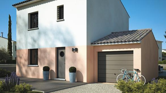 Maison+Terrain à vendre .(80 m²)(LEZAN) avec (LES MAISONS DE MANON)
