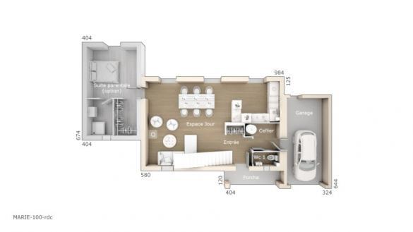 Maison+Terrain à vendre .(100 m²)(SOUVIGNARGUES) avec (LES MAISONS DE MANON)