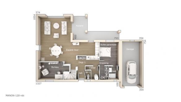 Maison+Terrain à vendre .(120 m²)(AIGREMONT) avec (LES MAISONS DE MANON)