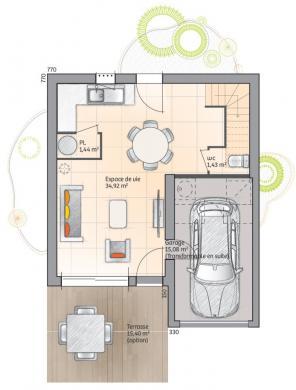Maison+Terrain à vendre .(83 m²)(REDESSAN) avec (LES MAISONS DE MANON)