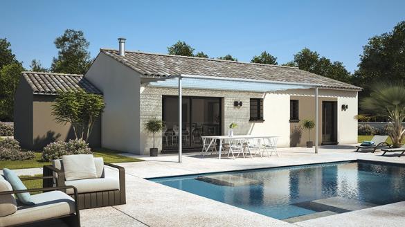 Maison+Terrain à vendre .(80 m²)(AIGUES VIVES) avec (LES MAISONS DE MANON)
