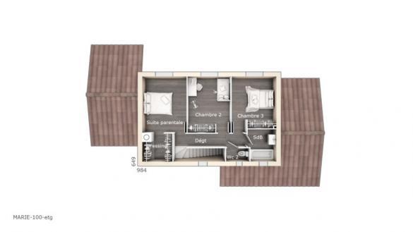 Maison+Terrain à vendre .(100 m²)(BELLEGARDE) avec (LES MAISONS DE MANON)