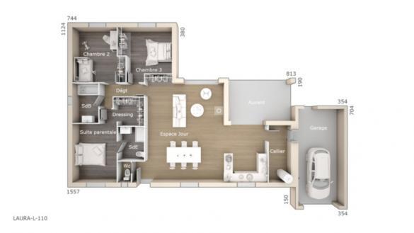 Maison+Terrain à vendre .(110 m²)(DIONS) avec (LES MAISONS DE MANON)