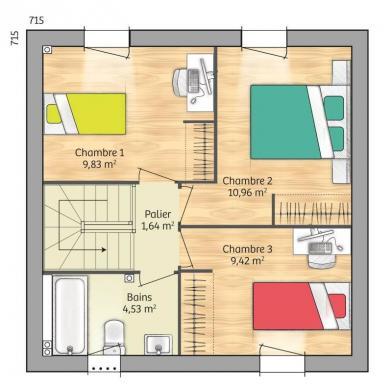 Maison+Terrain à vendre .(74 m²)(PONT SAINTE MAXENCE) avec (MAISONS FRANCE CONFORT)