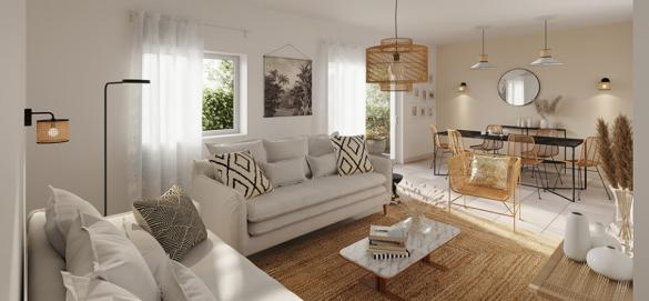 Maison+Terrain à vendre .(60 m²)(LE THILLAY) avec (MAISONS FRANCE CONFORT)