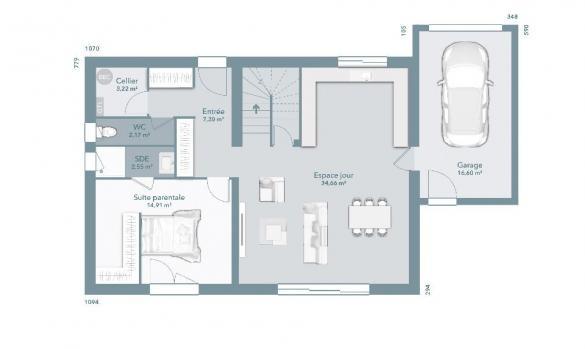 Maison+Terrain à vendre .(112 m²)(PUGET VILLE) avec (MAISONS FRANCE CONFORT)