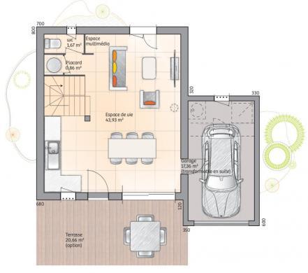Maison+Terrain à vendre .(88 m²)(PIERREFEU DU VAR) avec (MAISONS FRANCE CONFORT)
