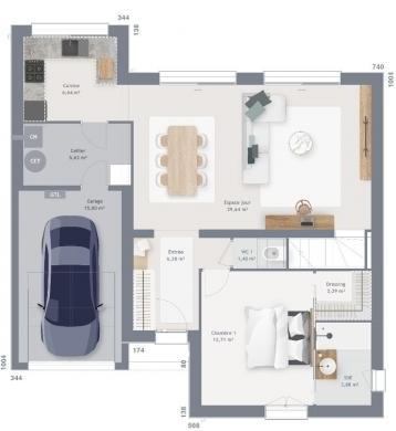 Maison+Terrain à vendre .(120 m²)(MOUROUX) avec (MAISONS FRANCE CONFORT)