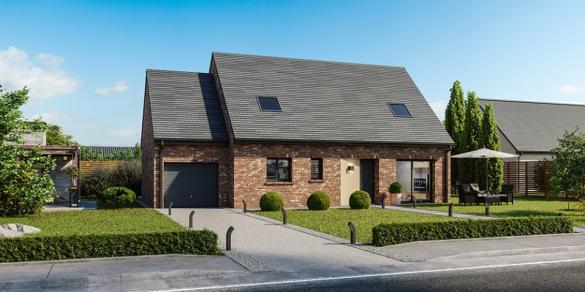 Maison+Terrain à vendre .(115 m²)(COULOMBY) avec (MAISONS FRANCE CONFORT)