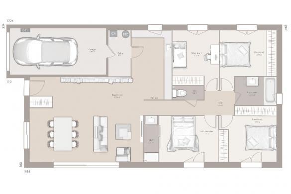 Maison+Terrain à vendre .(110 m²)(SAINT ALBAN LEYSSE) avec (MAISON FRANCE CONFORT)