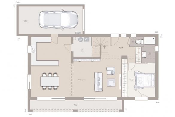 Maison+Terrain à vendre .(110 m²)(FITILIEU) avec (MAISON FRANCE CONFORT)