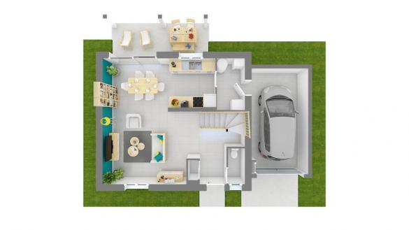 Maison+Terrain à vendre .(90 m²)(LES ABRETS) avec (MAISONS FRANCE CONFORT)