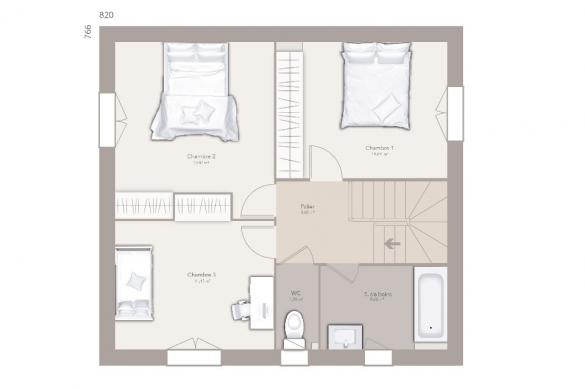 Maison+Terrain à vendre .(95 m²)(FRONTENEX) avec (MAISONS FRANCE CONFORT)