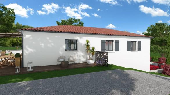 Maison+Terrain à vendre .(106 m²)(VERNEUIL SUR VIENNE) avec (MAISONS ARLOGIS LIMOGES)