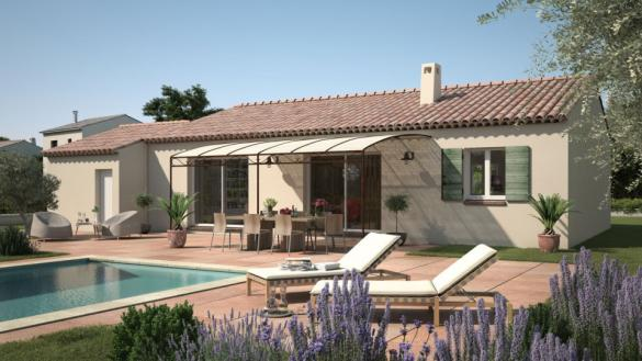 Maison+Terrain à vendre .(90 m²)(COTIGNAC) avec (LES MAISONS DE MANON)