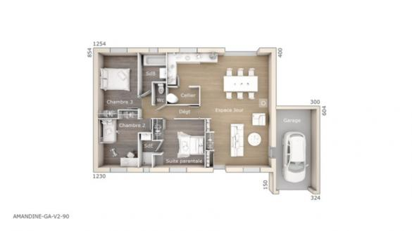 Maison+Terrain à vendre .(90 m²)(CABASSE) avec (LES MAISONS DE MANON)