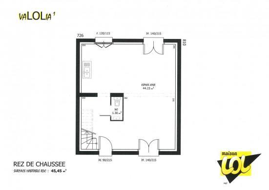 Maison à vendre .(90 m²)(CHOISY LE ROI) avec (MAISON LOL)