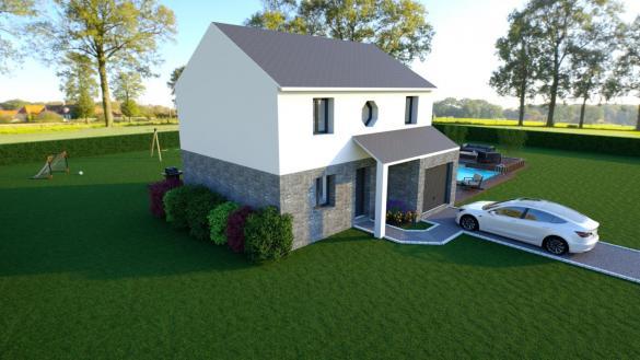Maison à vendre .(95 m²)(GUIGNES) avec (MAISON LOL)
