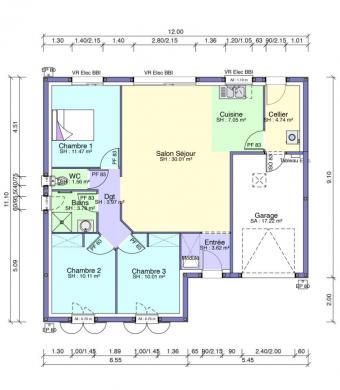 Maison+Terrain à vendre .(80 m²)(LE GUE D'ALLERE) avec (MAISONS ACCO - Agence de LA JARNE)