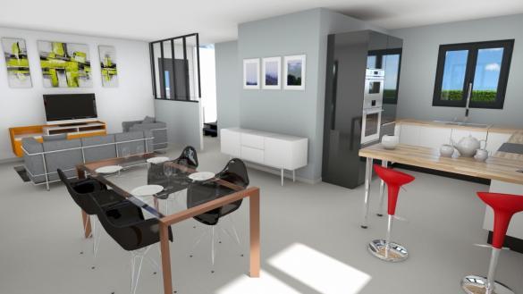 Maison à vendre .(110 m²)(VOIRON) avec (CREAVILLA 38)