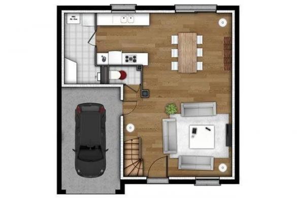 Maison+Terrain à vendre .(85 m²)(BREUILPONT) avec (MAISONS EXTRACO - Agence de GRAVIGNY)
