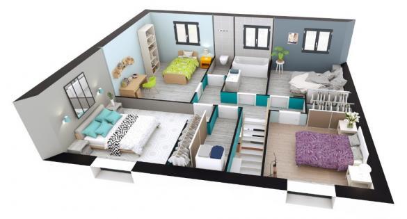 Maison+Terrain à vendre .(100 m²)(PLAISIR) avec (MAISONS EXTRACO - Agence de GRAVIGNY)