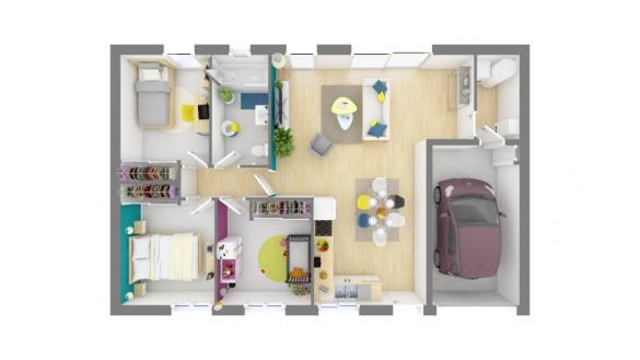 Maison+Terrain à vendre .(75 m²)(BRUGUIERES) avec (MAISONS FRANCE CONFORT)
