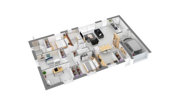 Maison+Terrain à vendre .(103 m²)(GRAGNAGUE) avec (MAISONS FRANCE CONFORT)
