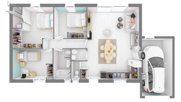 Maison+Terrain à vendre .(95 m²)(ONDES) avec (MAISONS FRANCE CONFORT)