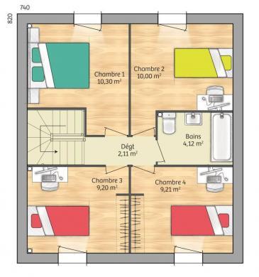 Maison+Terrain à vendre .(91 m²)(SAINT PATERNE) avec (MAISONS FRANCE CONFORT)