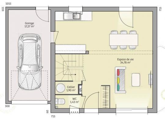 Maison+Terrain à vendre .(74 m²)(ROUESSE FONTAINE) avec (MAISONS FRANCE CONFORT)
