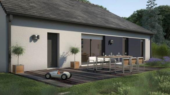 Maison+Terrain à vendre .(90 m²)(TELOCHE) avec (MAISONS FRANCE CONFORT)