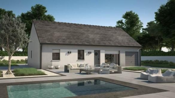 Maison+Terrain à vendre .(93 m²)(ETIVAL LES LE MANS) avec (MAISONS FRANCE CONFORT)