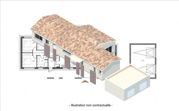 Maison+Terrain à vendre .(129 m²)(VILLEFRANCHE DE LONCHAT) avec (Bourse de l Immobilier Montpon Ménestérol)