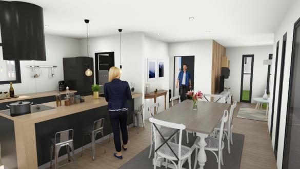 Maison+Terrain à vendre .(85 m²)(VARZAY) avec (MAISONS ARLOGIS ROCHEFORT)