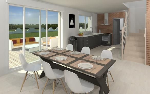 Maison+Terrain à vendre .(100 m²)(CRECY LA CHAPELLE) avec (MAISON FAMILIALE MAREUIL LES MEAUX)