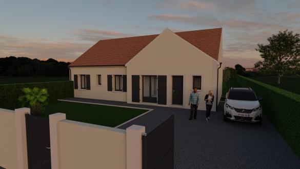 Maison+Terrain à vendre .(87 m²)(EVRY GREGY SUR YERRE) avec (MAISON FAMILIALE MAREUIL LES MEAUX)